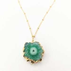 """Evergreen"" Solar quartz necklace"